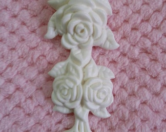 Large rose drop embellishment/resin applique
