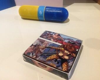 Comic Coasters featuring Wonder Woman