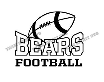 Bears Football Download Files - SVG, DXF, EPS, Silhouette Studio, Vinyl Cut Files, Digital Cut Files -Use with Cricut and Silhouette