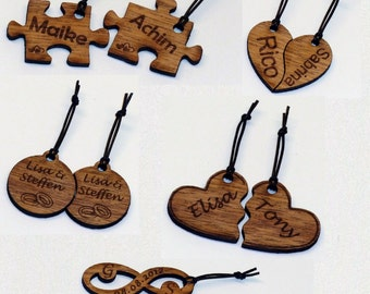 Personalize wood partners key chain with single-sided engraving