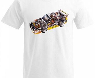 S1 quattro Audi team Walter Roehr T Shirt  s/m/l/xl/xxl