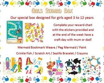 Girls reward box, chart and stickers