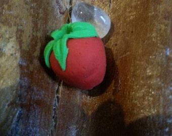 strawberry dread bead