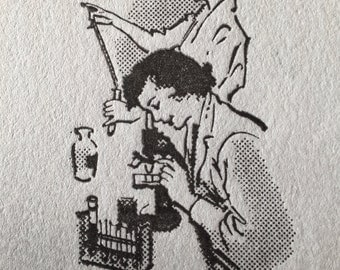 "WOMEN & SCIENCE - Letterpress Art Print on Crane's LETTRA A7 (5x7"") Flat-Panel Card"