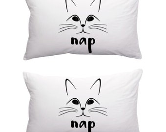 Cat Nap Pillow Cases