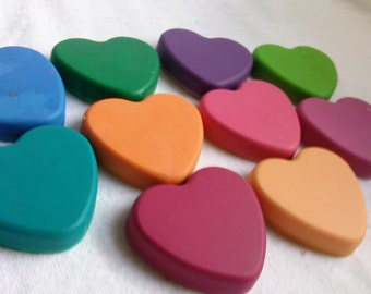 Recycled Crayons - Hearts - Set of 4 - Children Birthday Party Favor