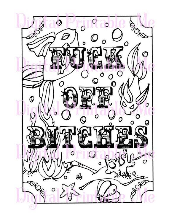 Curse Word Coloring Book Page Printable By DigitalPrintableMe