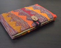 Embroidered journal, Handmade notebook, print notebook, Handmade paper, Bunting style embroidered journal, Kantha journal, Stationary