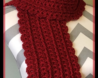 Crochet Urban Shells Scarf