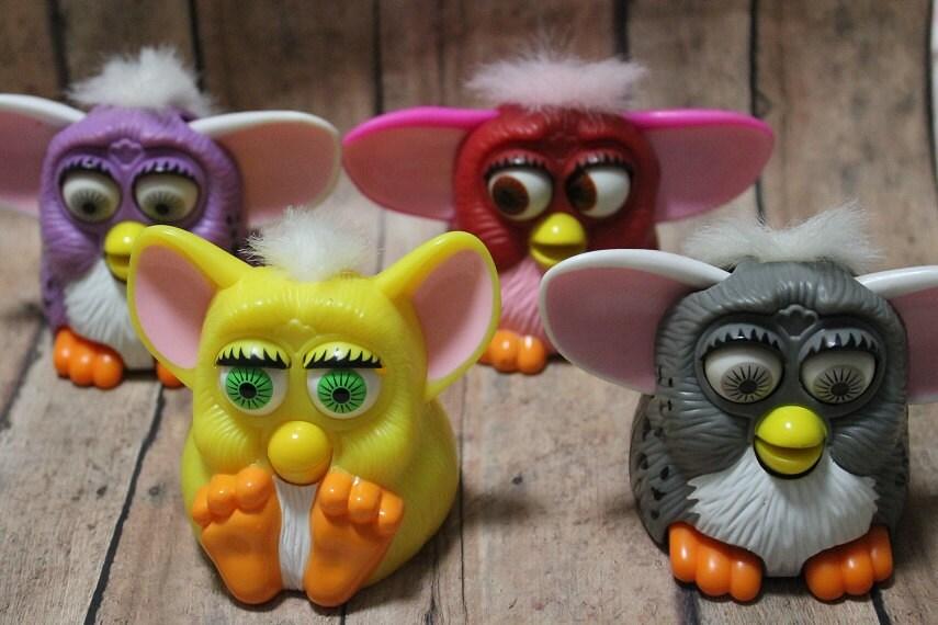 Furby Toys-Lot of 4 McDonald's Furby Happy Meal