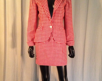 Ungaro - Suit jacket and skirt with small tiles