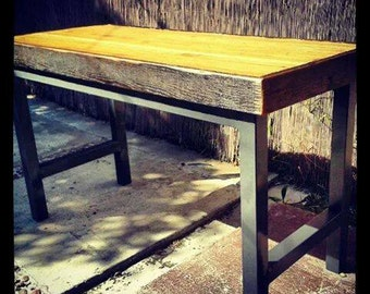 Desk reaclaimed wood and steel