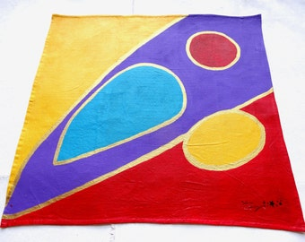 Canvas Nomad N * 3 / Collection Samara / acrylic on fabric / 48 cm x 48 cm