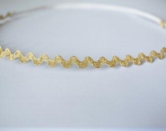 Gold trim baby halo headband | baby halo headband, gold halo