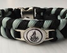 Divergent Dauntless paracord bracelet