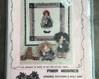 My Baby, Fiber Mosiacs, Designed by Leslie Beck, Wall Quilt Pattern, Baby Doll Pattern