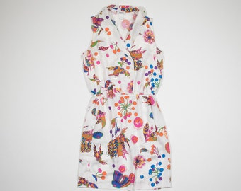 SONIA RYKIEL-white dress with floral silk-White dress with floral patterned silk