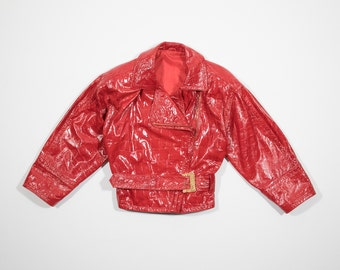 VALENTINO - Studded Red leather jacket