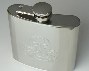 17th 21st Lancers Stainless Steel Hip Flask
