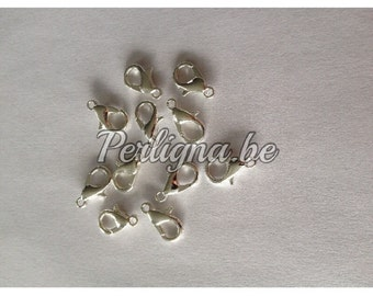 20 pieces - Lobster clasps claw 12x6 mm