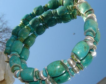 Very beautiful turquoise necklace - 925 Silver unique