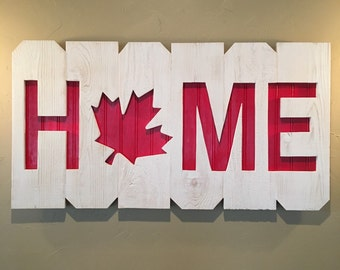 Canada Home Sign