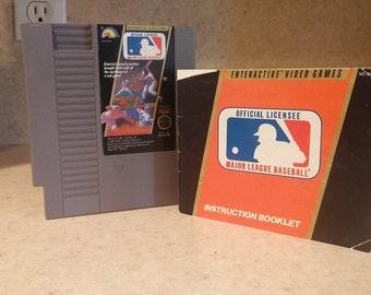 Major League Baseball - NES Game + Original Manual!