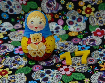 Russian  matryoshka doll Roly Poly original hand painted with sound