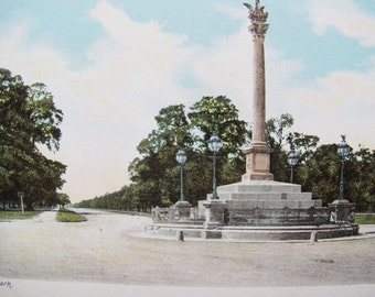 Phoenix Park Dublin antique postcard / Phoenix Park statue unposted post card