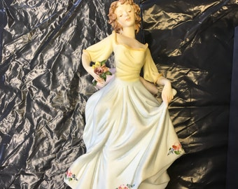 Hand Painted Lady Ornament