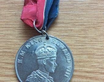 Rare King Edward 8 Coronation  Medal 1937