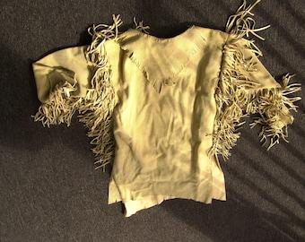 Elk Rider Trading Post Custom made rendezvous mountain man traditional buckskin shirt
