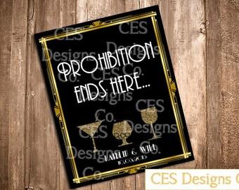 Art Deco Prohibition Sign