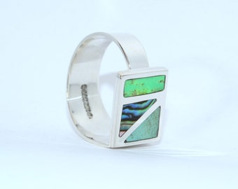 Boreal adjustable silver ring