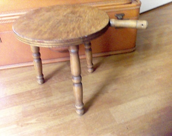 Wooden foot stool, step stool, hand crafted,milking stool, 3 leged  stool