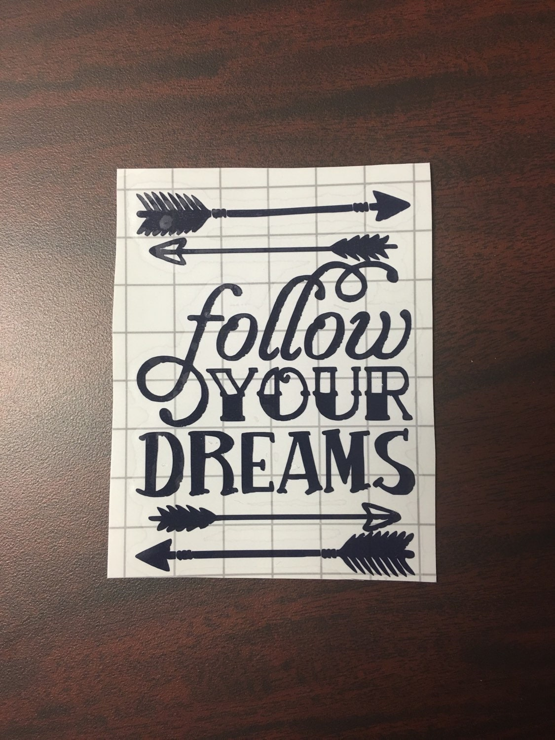 Follow your dreams decal, dreamer decal, positive quote ...