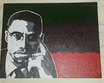 Malcolm X painting