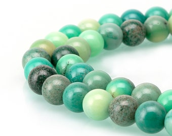 Gorgeous Chrysoprase Smooth Round Loose Beads 15.5'' Long Per Strand Size 4/6/8/10/14mm R-S-AGA-0447