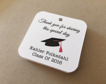 Personalized Graduation Favor Tags, Graduation tags,Party Favor tags (GRAD-01)