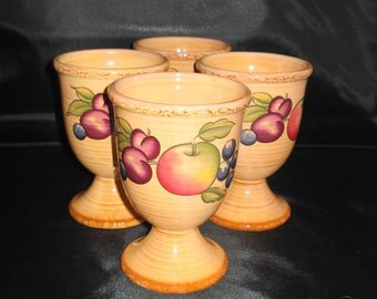 Set of 4 Hornsea pottery Goblets