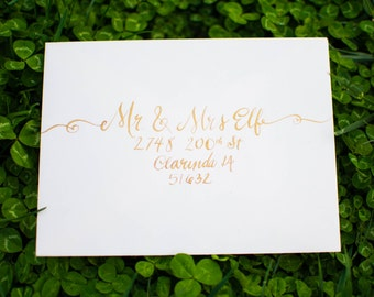 Calligraphy for Wedding Invitations, Holiday Letters, Party Invitations, Etc.