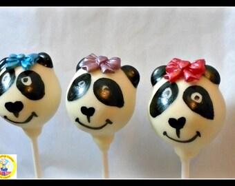 Panda Chocolate Cake Pops/Panda Lover/Panda Gift/Animal Lover/Kids Birthday Favour/Female Gift/Kids Cake Pops/Novelty Cake/Mum/Daughter/Son
