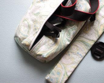 DSLR Camera case+strap set Padded Travel bag for Women  Canon Nikon Shoulder/neck/crossbody pouch insert Zip purse Handmade gift for her
