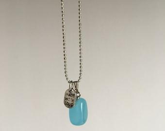 Aqua Blue Jade ~ silver
