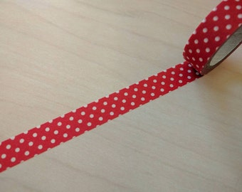 Full roll red and white polka dot washi tape 26.25 feet 1 piece