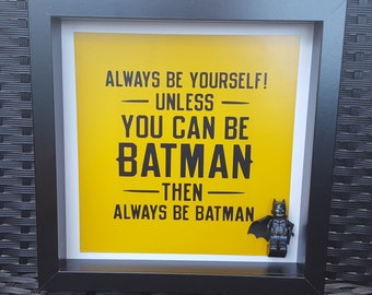 batman lego frame personalised scrabble frame for all occations wedding engagements birthdays many more