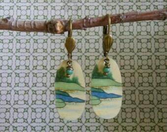Vintage Tin Bay Earrings