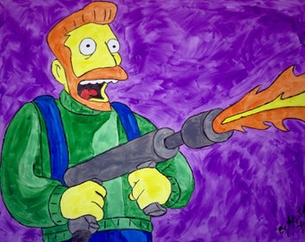 Hank Scorpio Flame Thrower The Simpsons