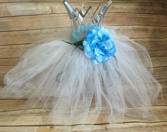 Tutu with Flower Accent/Hair Accessory