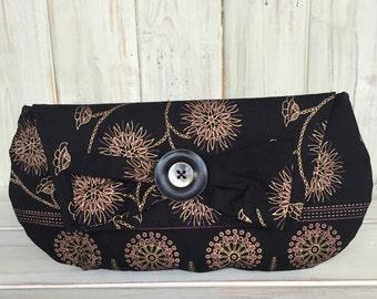 Clutch Bag,Black Clutch Bag,Handmade Bag,Handmade Clutch, Black & Gold Clutch,Wedding Clutch Bag,Evening Bag,Evening Clutch Bag,Fully Lined